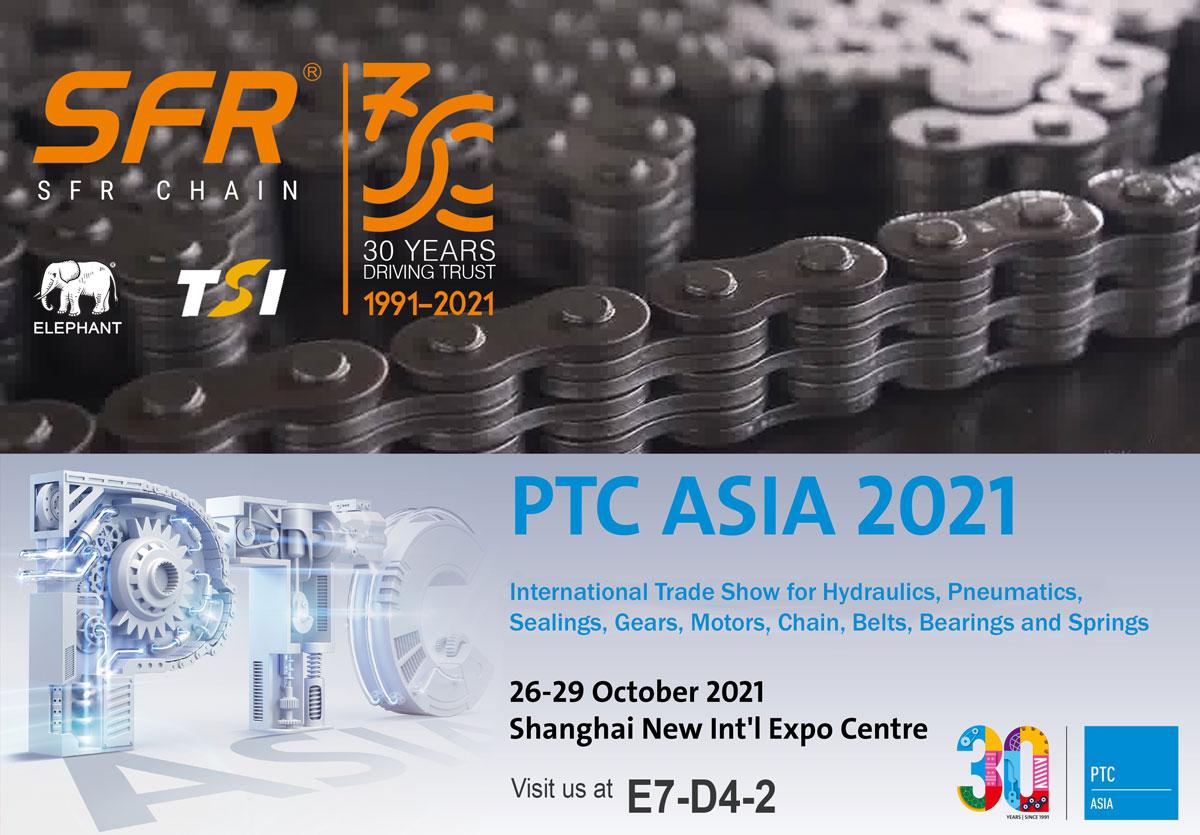 SFR Chain en PTC Asia 2021 - Celebrando nuestros 30 años al mismo tiempo