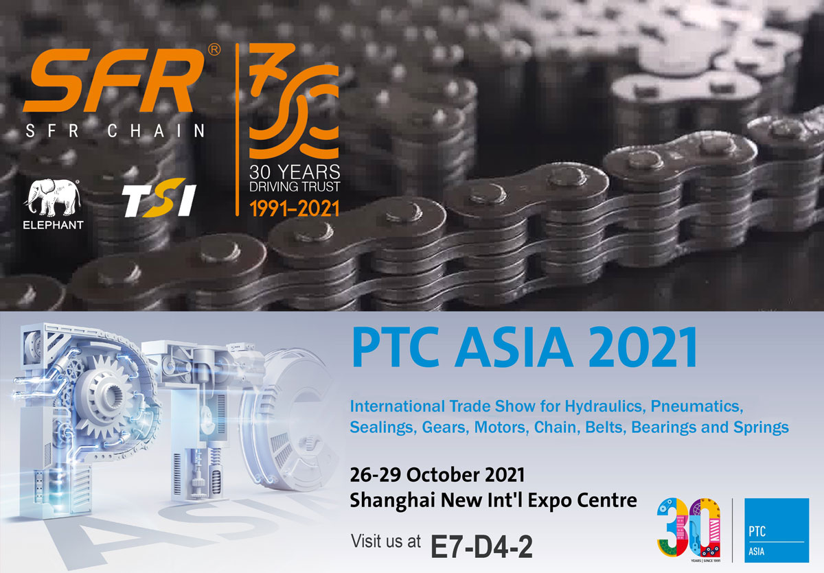 SFR Chain at PTC Asia 2021 - Celebrating 30 years together